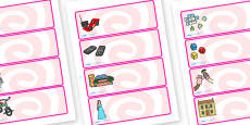 Editable Drawer - Peg - Name Labels (Toys)