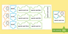 * NEW * Quarter Past and Quarter to Times Jigsaw Puzzle Activity