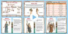 Roman Gods Information Flipchart