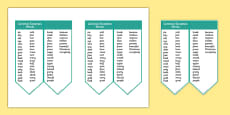 Editable Common Exception Words Year 2 Bookmark