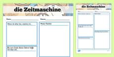 Time Capsule Transition Writing Frame German