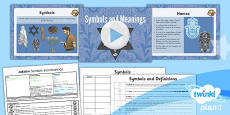 PlanIt - RE Year 3 - Judaism Lesson 6: Symbols and Meanings Lesson Pack