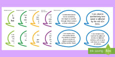 Year 4 Australian Curriculum Science Understandings I Can Speech Bubbles