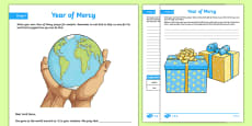 Year of Mercy Prayer Activity Sheet