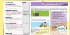 PlanIt - History KS1 - Travel and Transport Planning Overview