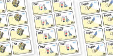 Busy Bee Themed Editable Book Labels