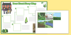 Bear Hunt Story Map Activity Sheet Pack