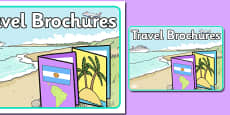 Travel Brochures Role Play Sign