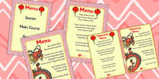 Chinese Restaurant Price Menu