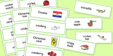 Three Syllable CR Word Cards