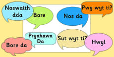 Social Greetings Prompt Cards Cymraeg