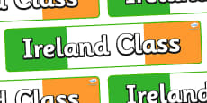 Ireland Themed Classroom Display Banner