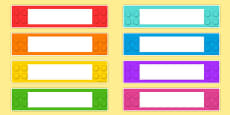 Australia - Building Brick Themed Gratnells Tray Labels