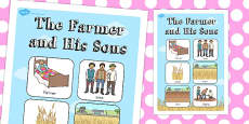 Australia - The Farmer and His Sons Vocabulary Poster