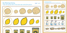 Pancake Day Size Matching Worksheet