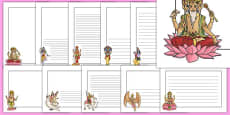 Hinduism Page Borders