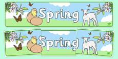 Spring Display Banner