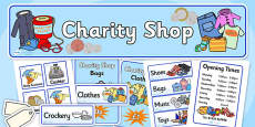 Charity Shops Role Play Pack
