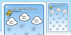 Reward Sticker Chart Winter (Snowflakes)