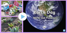 * NEW * Earth Day Words and Pictures PowerPoint
