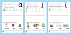 Letter Formation Activity Sheets Arabic Translation