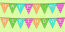 Happy 9th Birthday Bunting