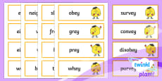 PlanIt English Additional Resources Year 3 Term 1A Word Cards