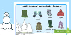 Vestiti Invernali Vocabolario Illustrato