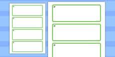 Elm Tree Themed Editable Drawer-Peg-Name Labels (Blank)