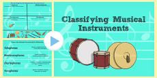 Classifying Musical Instruments Flipchart