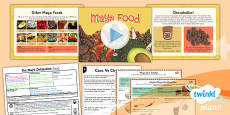 PlanIt - History UKS2 - The Maya Civilisation Lesson 6: Food Lesson Pack