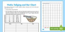 Smartie Maths Tallying and Bar Chart Activity Sheet