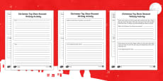 Christmas Toy Show Recount Writing Differentiated Activity Sheets