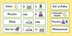 Islam Word Cards