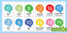 Number Flash Cards Romanian Translation