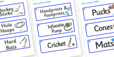 Sapphire Themed Editable PE Resource Labels