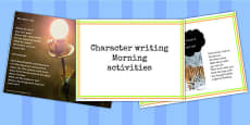 1 Week Y6 Literacy Character Writing Morning Activities PowerPoint