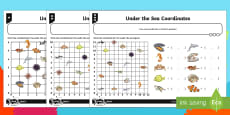 Under the Sea Coordinates Differentiated Activity Sheets