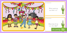 Cinco de Mayo Scene and Question Cards