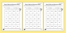 Phase 5 Colour by Phoneme Real and Nonsense Words Activity Sheet Pack