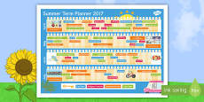 Summer Term 2017 Calendar Planner