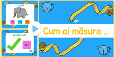 Measure Objects PowerPoint Game Romanian