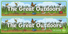 The Great Outdoors Display Banner