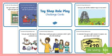 Toy Shop Role Play Challenge Cards
