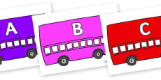 A-Z Alphabet on Buses