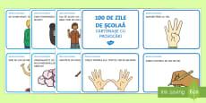 * NEW * 100 de Zile de Școală - Cartonașe cu provocări