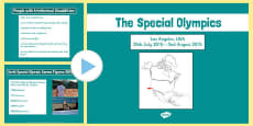 Special Olympics LA 2015 PowerPoint