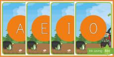¡Cómo mola tu escoba! tarjetas de fonemas - vocales