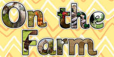 On the Farm Photo Display Lettering