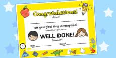 First Day Award Certificates Reception Arabic Translation